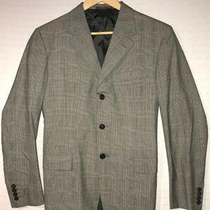 Prada Men's Sz 50R Chest 22″ 3-Button Plaid Blazer